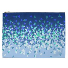 Blue Disintegrate Cosmetic Bag (xxl)