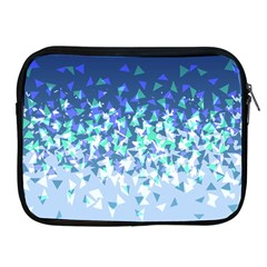 Blue Disintegrate Apple Ipad 2/3/4 Zipper Cases