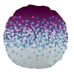 Disintegrate Carnivale Large 18  Premium Round Cushions