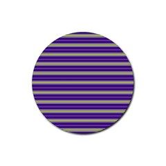 Color Line 1 Rubber Round Coaster (4 Pack)
