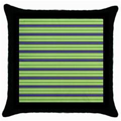 Color Line 2 Throw Pillow Case (black)