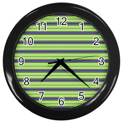Color Line 2 Wall Clocks (black)