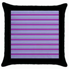 Color Line 4 Throw Pillow Case (black)