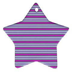 Color Line 4 Star Ornament (two Sides)