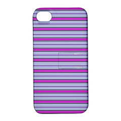 Color Line 4 Apple Iphone 4/4s Hardshell Case With Stand