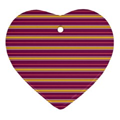 Color Line 5 Heart Ornament (two Sides)
