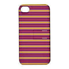 Color Line 5 Apple Iphone 4/4s Hardshell Case With Stand