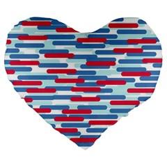 Fast Capsules 1 Large 19  Premium Flano Heart Shape Cushions