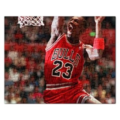 Michael Jordan Rectangular Jigsaw Puzzl