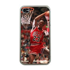Michael Jordan Apple Iphone 4 Case (clear)