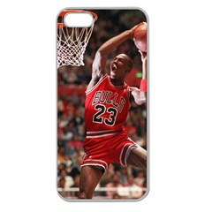 Michael Jordan Apple Seamless Iphone 5 Case (clear)