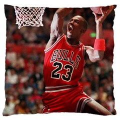 Michael Jordan Large Flano Cushion Case (one Side)