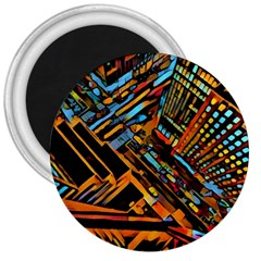 City Scape 3  Magnets