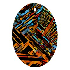 City Scape Ornament (oval)