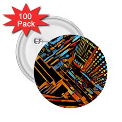 City Scape 2 25  Buttons (100 Pack)