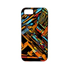 City Scape Apple Iphone 5 Classic Hardshell Case (pc+silicone)