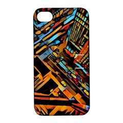 City Scape Apple Iphone 4/4s Hardshell Case With Stand