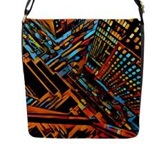 City Scape Flap Messenger Bag (l)