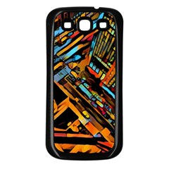 City Scape Samsung Galaxy S3 Back Case (black)
