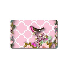 Shabby Chic,floral,bird,pink,collage Magnet (name Card)