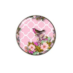 Shabby Chic,floral,bird,pink,collage Hat Clip Ball Marker