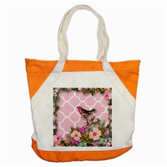 Shabby Chic,floral,bird,pink,collage Accent Tote Bag