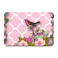 Shabby Chic,floral,bird,pink,collage Plate Mats