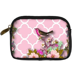 Shabby Chic,floral,bird,pink,collage Digital Camera Cases