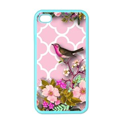 Shabby Chic,floral,bird,pink,collage Apple Iphone 4 Case (color)