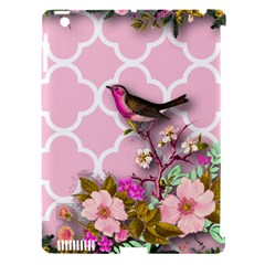 Shabby Chic,floral,bird,pink,collage Apple Ipad 3/4 Hardshell Case (compatible With Smart Cover)