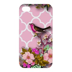 Shabby Chic,floral,bird,pink,collage Apple Iphone 4/4s Premium Hardshell Case