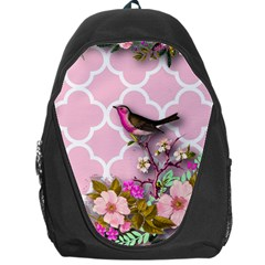 Shabby Chic,floral,bird,pink,collage Backpack Bag