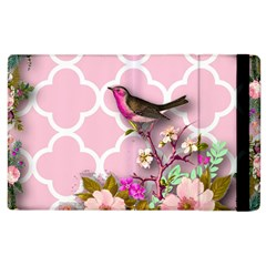 Shabby Chic,floral,bird,pink,collage Apple Ipad 2 Flip Case