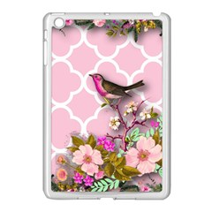 Shabby Chic,floral,bird,pink,collage Apple Ipad Mini Case (white)