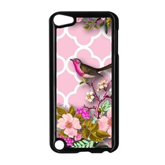 Shabby Chic,floral,bird,pink,collage Apple Ipod Touch 5 Case (black)