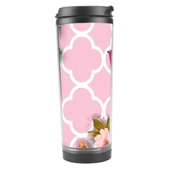 Shabby Chic,floral,bird,pink,collage Travel Tumbler