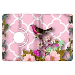 Shabby Chic,floral,bird,pink,collage Kindle Fire Hdx Flip 360 Case