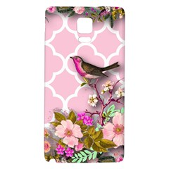 Shabby Chic,floral,bird,pink,collage Galaxy Note 4 Back Case