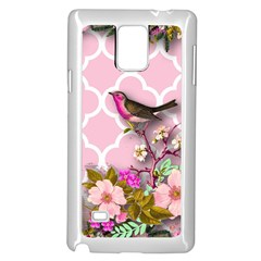 Shabby Chic,floral,bird,pink,collage Samsung Galaxy Note 4 Case (white)