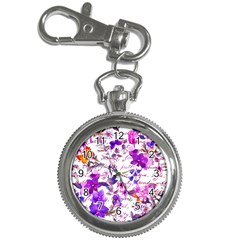 Ultra Violet,shabby Chic,flowers,floral,vintage,typography,beautiful Feminine,girly,pink,purple Key Chain Watches