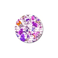 Ultra Violet,shabby Chic,flowers,floral,vintage,typography,beautiful Feminine,girly,pink,purple Golf Ball Marker (10 Pack)