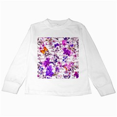 Ultra Violet,shabby Chic,flowers,floral,vintage,typography,beautiful Feminine,girly,pink,purple Kids Long Sleeve T Shirts