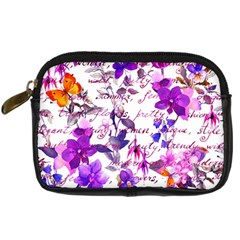 Ultra Violet,shabby Chic,flowers,floral,vintage,typography,beautiful Feminine,girly,pink,purple Digital Camera Cases