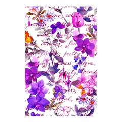 Ultra Violet,shabby Chic,flowers,floral,vintage,typography,beautiful Feminine,girly,pink,purple Shower Curtain 48  X 72  (small)