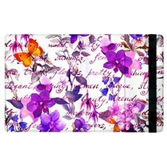 Ultra Violet,shabby Chic,flowers,floral,vintage,typography,beautiful Feminine,girly,pink,purple Apple Ipad 3/4 Flip Case