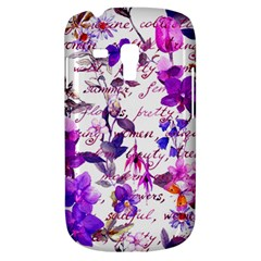 Ultra Violet,shabby Chic,flowers,floral,vintage,typography,beautiful Feminine,girly,pink,purple Galaxy S3 Mini