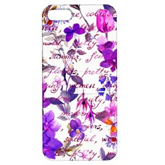 Ultra Violet,shabby Chic,flowers,floral,vintage,typography,beautiful Feminine,girly,pink,purple Apple Iphone 5 Hardshell Case With Stand