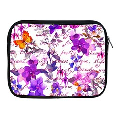Ultra Violet,shabby Chic,flowers,floral,vintage,typography,beautiful Feminine,girly,pink,purple Apple Ipad 2/3/4 Zipper Cases