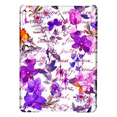 Ultra Violet,shabby Chic,flowers,floral,vintage,typography,beautiful Feminine,girly,pink,purple Ipad Air Hardshell Cases