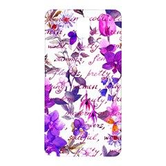 Ultra Violet,shabby Chic,flowers,floral,vintage,typography,beautiful Feminine,girly,pink,purple Samsung Galaxy Note 3 N9005 Hardshell Back Case